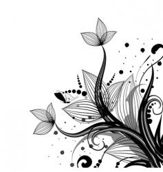 Flower corner vector