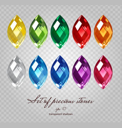 Gemstones set vector