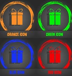 Gift box sign icon Present symbol Fashionable vector