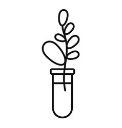 Gmo plant tube icon outline style vector