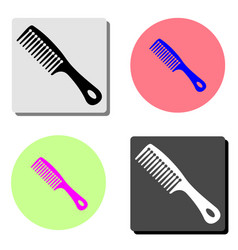 hair comb flat icon vector image