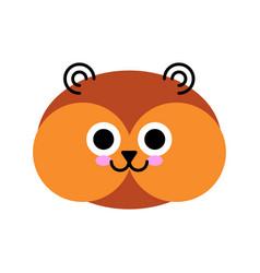 Hamster face cute cartoon animal isolated vector