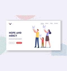 hope and mercy landing page template family let vector image