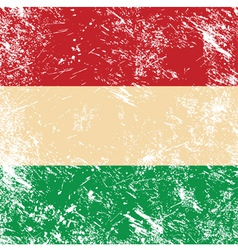 hungary retro flag vector image