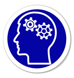 Icon - thinking intelligence problems vector