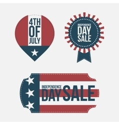 independence day 4th of july banners set vector image