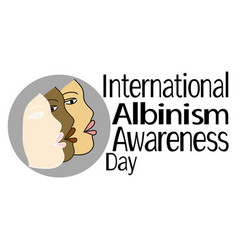international albinism awareness day faces in vector image