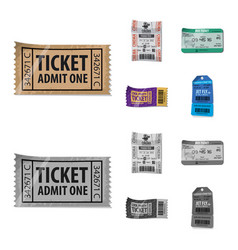 Isolated object of ticket and admission symbol vector