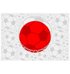 Japan soccer balls vector
