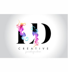 Ld vibrant creative leter logo design vector