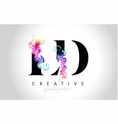 Ld vibrant creative leter logo design with vector