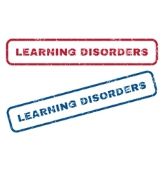 Learning Disorders Rubber Stamps vector