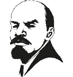 Lenin portrait vladimir lenin symbol world vector