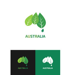 logo in view contour map australia vector image