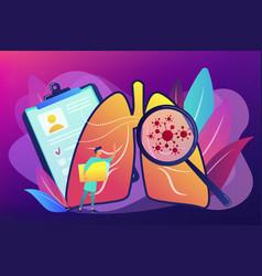 Lung cancer concept vector