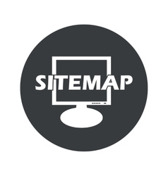 Monochrome round sitemap icon vector