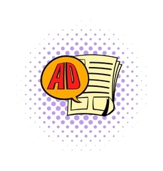 Newspaper with space for advertisement icon vector