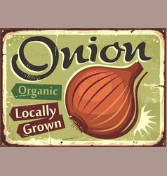 Onion locally grown organic farm product vector