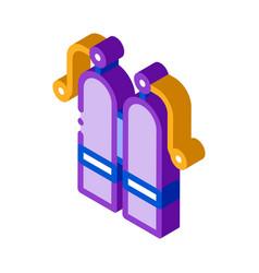 Oxygen cylinder isometric icon vector