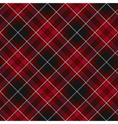 Pride of wales fabric diagonal textile red tartan vector