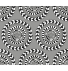 Rotating Circles Optical Seamless Pattern vector
