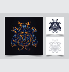 Satan samurai artwork vector
