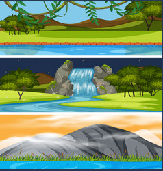 Set of beautiful scene vector