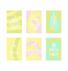 Set of smoothie cards vector