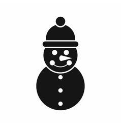 Snowman icon simple style vector image