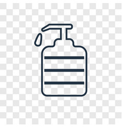 soap dispenser concept linear icon isolated on vector image
