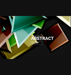 squares and triangles geometrical background vector image