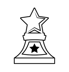 stars trophy awards outline design vector image