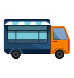 street truck shop icon cartoon style vector image
