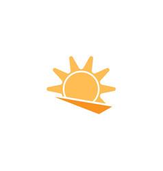 sun icon design template isolated vector image