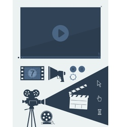 symbol set movie vector image