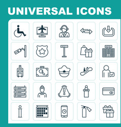 Travel icons set collection of globetrotter vector