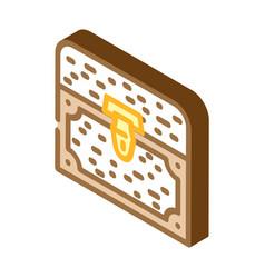 Treasure chest isometric icon vector