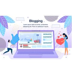 video blogging platform poster template vector image