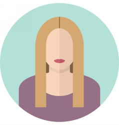 Young blondy woman flat icon Modern design vector