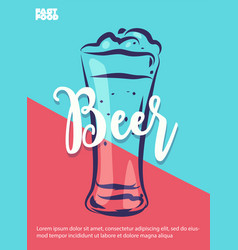 beer poster with cool design vector image