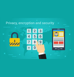 business banner - privacy encryption and security vector image