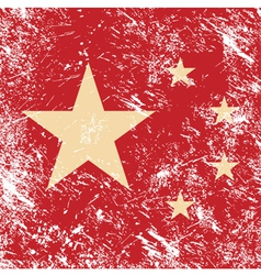 China retro flag vector image vector image