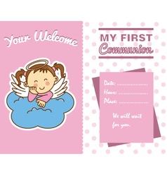 communion girl vector image vector image