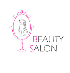 logo template for beauty salon vector image vector image