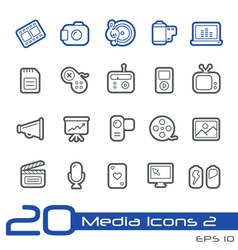 Multimedia Outline Series vector image vector image