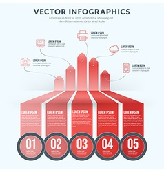 Abstract Infographic Design Element Flat Style for vector image vector image