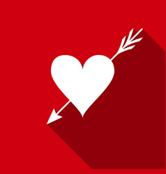 amour symbol with heart and arrow icon love sign vector image
