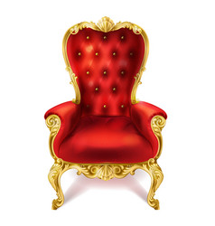 An ancient red royal throne vector