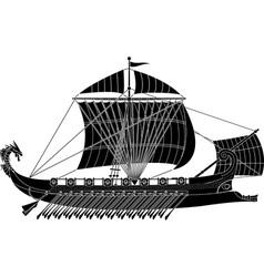 ancient fantasy ship vector image