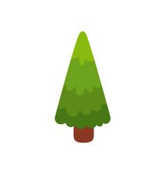 flat cartoon comic style green fir tree pine vector image vector image